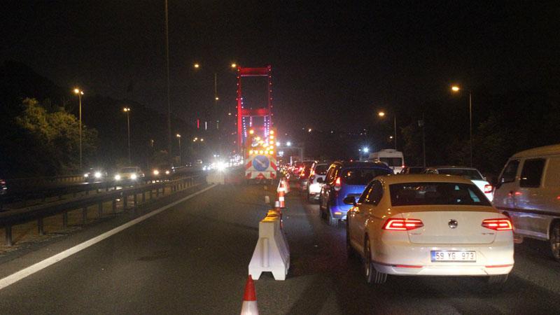 FSM ve 15 Temmuz Şehitler köprülerinde bazı şeritler kapatıldı; 50 gün sürecek