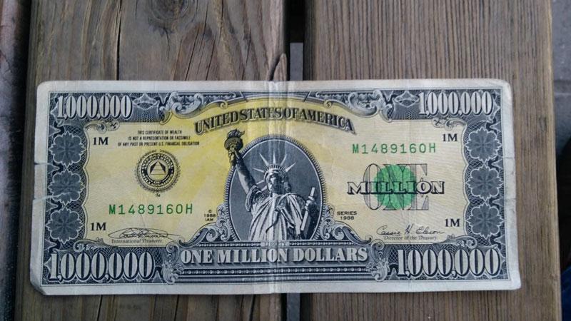 Uşak'ta 'Amerikan rüyası'nın sembolü 1 milyon dolarlık banknot ele geçirildi ile ilgili görsel sonucu