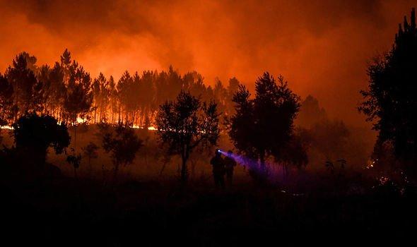 Yangın, iki gün içinde yaklaşık 70 kilometrekareyi harap etti.