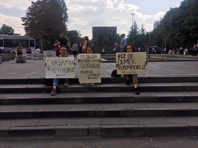 Ankara Emine Bulut protestosu