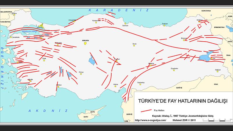 Istanbul Daki Depremin Meydana Geldigi Kuzey Anadolu Fay