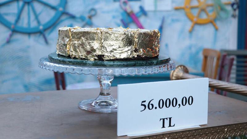 340 gram altın kullanıldı işte Türkiye'nin en pahalı pastası