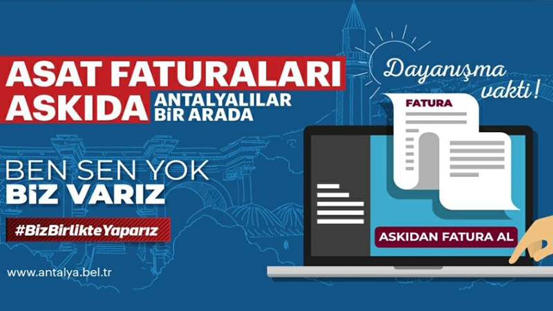 Antalya'da da 'Askıda Fatura' uygulaması başladı: İlk 100 faturayı ...