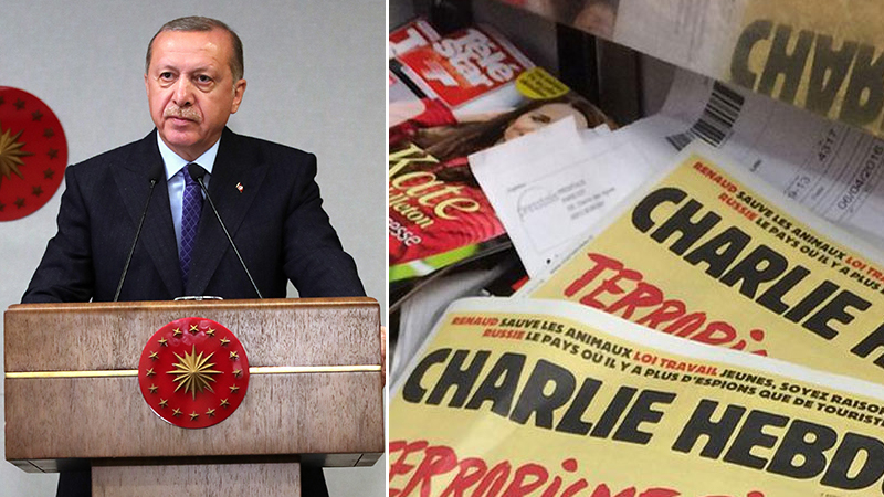 Erdoğan, Charlie Hebdo