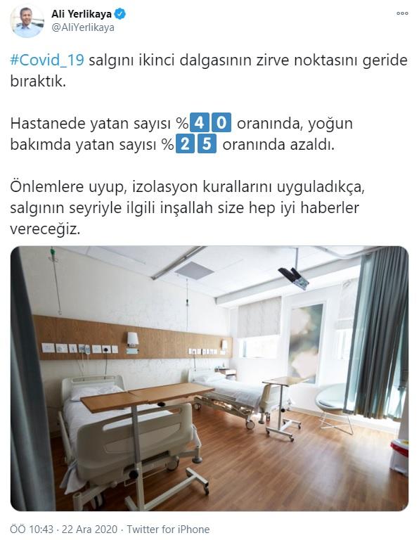 SON DAKİKA | İstanbul Valisi Ali Yerlikaya: İkinci dalganın zirve noktasını geride bıraktık 1 – 1608623894737 ali