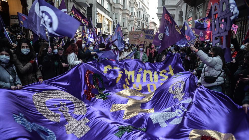 8 Mart 2021 İstiklal Taksim