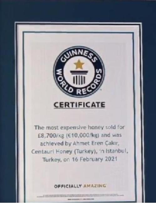 Mağaradan toplanan bal Guinness Rekorlar Kitabı'na girdi