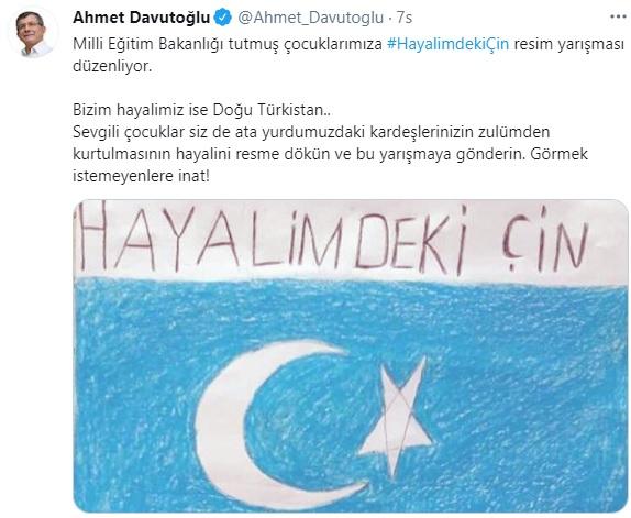 Davutoğlu'ndan MEB'e Doğu Türkistan tepkisi