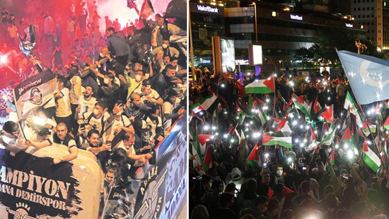 israil protesto şampiyonluk kutlaması