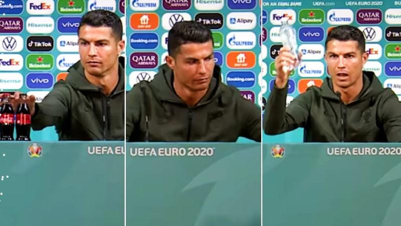 Ronaldo şişeleri masadan kaldırdı, Coca-Cola 4 milyar dolar değer kaybetti