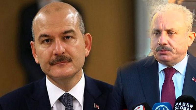 """""""Sedat Peker'den her ay 10 bin dolar alan siyasetçi var"""" iddiasının ardından 'belge' istemişti; Bakan Soylu'dan TBMM Başkanı Şentop'a sürpriz ziyaret"""