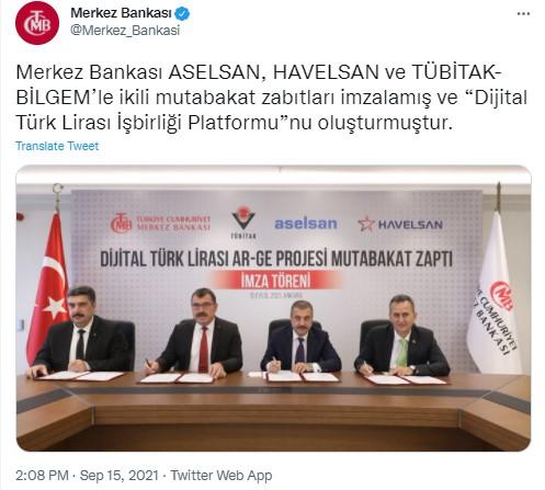 Dijital Türk Lirası TCMB