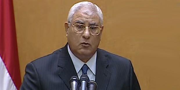 Adli Mansur, Mısır Cumhurbaşkanlığı için yemin etti - T24