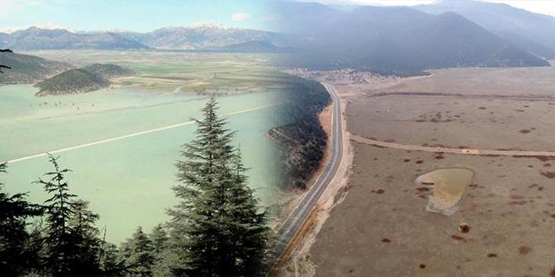850 hektarlık Avlan Gölü kurudu